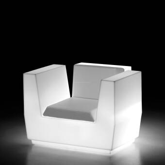 Euro3plast Plust Collection Big Cut Armchair Light  Art.8279 Indoor fotel podświetlany