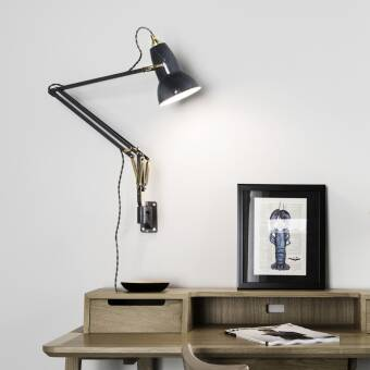 Anglepoise Oryginal 1227  Brass Lamp with Wall Bracket  kinkiet kolory