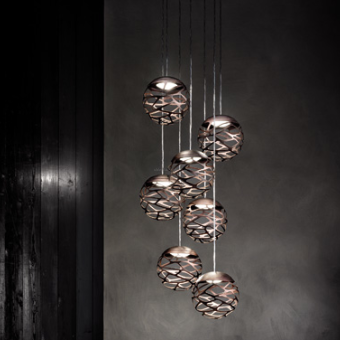 Studio Italia Design  KELLY Cluster 7 Spheres LED Suspension  SO3 lampa wisząca  kolory