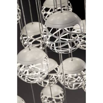 Studio Italia Design KELLY Cluster 5 Spheres LED Suspension SO2 lampa wisząca  kolory