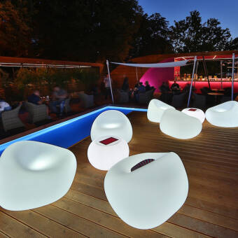 Euro3plast Plust Collection  Gumball Armchair Light Outdoor Art. 8246  fotel - meble podświetlane