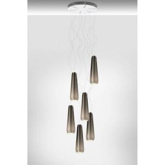 Diesel with Foscarini Glass Drop x 6 +  Rosone Multiplo Tondo lampa wisząca