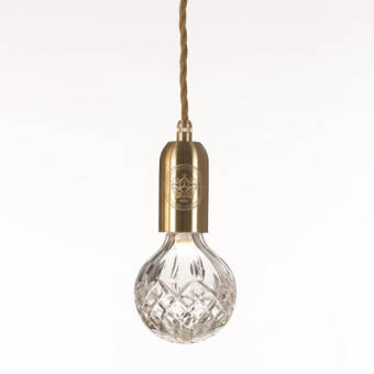Lee Broom Crystal Bulb Pendant Brushed Brass - Polished chrom lampa wisząca kolory