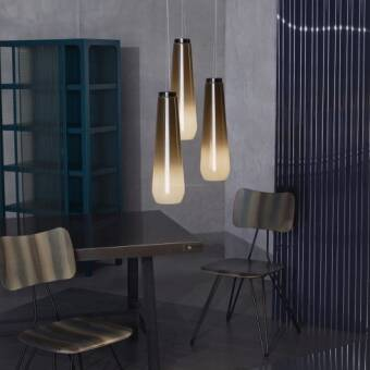 Diesel with Foscarini Glass Drop x 3 + Rosone Multiplo Tondo lampa wisząca