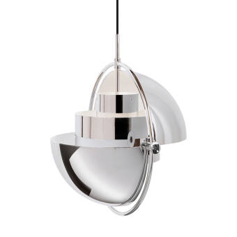 Gubi Multi -  Lite  Pendant  - small chrome base lampa wisząca